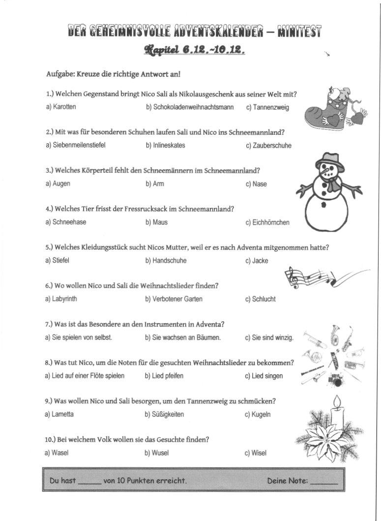 Der geheimnisvolle Adventskalender - Ein phantastisches ...
